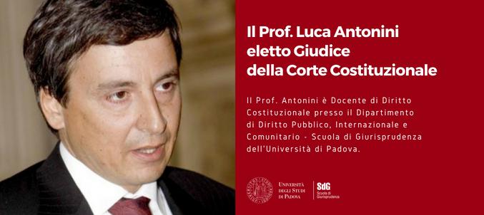 Prof. Antonini a Giudice della Corte Costituzionale